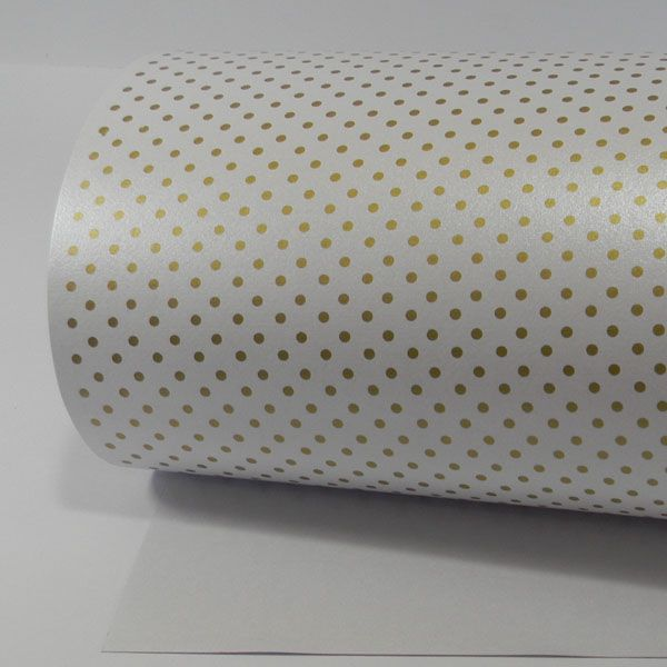 Papel Poás - Pérola Branca com Dourado - Tam. A4 - 180g/m²
