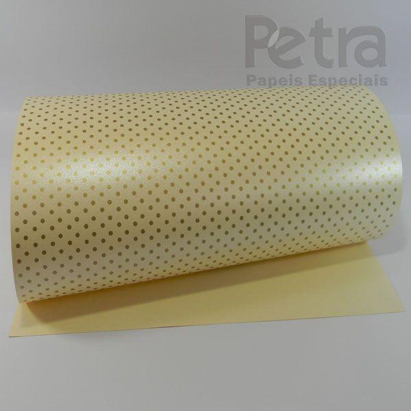 Papel Poás - Pérola Champanhe com Dourado - Tam. A4 - 180g/m²