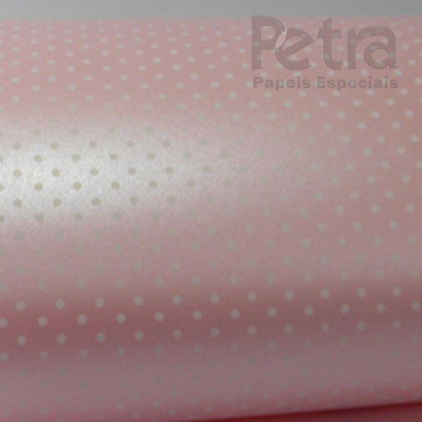 Papel Poás - Pérola Rosa Claro com Branco - Tam. 30,5x30,5cm - 180g/m²