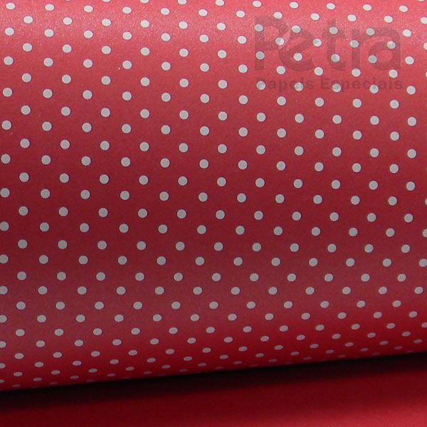 Papel Poás - Pérola Vermelho com Branco - Tam. 32x65cm - 180g/m²