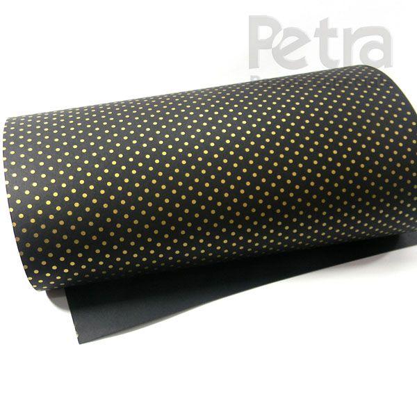 Papel Poás - Preto com Dourado - Tam. 47x65cm - 180g/m²