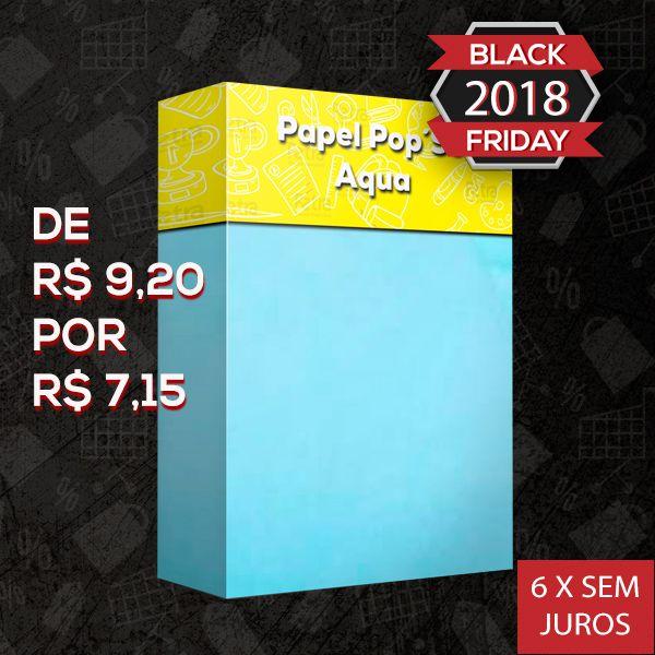 Papel Pop Set Aqua ( Azul ) - Tam. A4 -170g/m² - 20 folhas