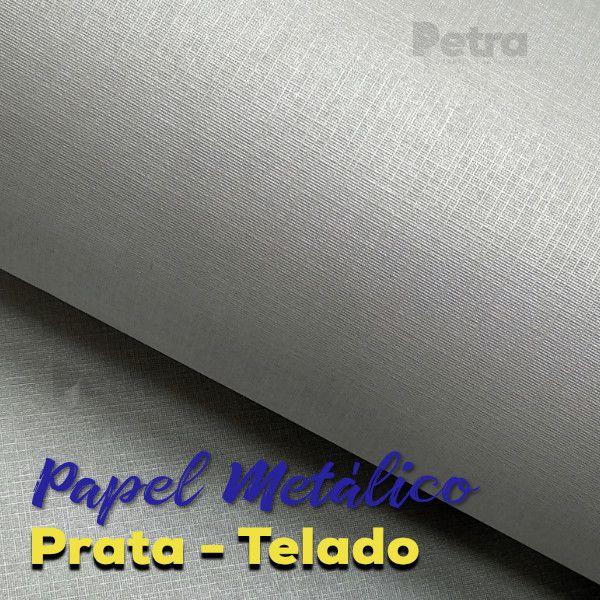 Papel Prata Telado  Tam: A4 180g/m²
