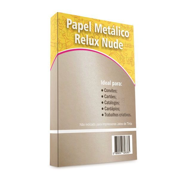 Papel Relux Nude Tam: A4 180g/m² com 20 folhas