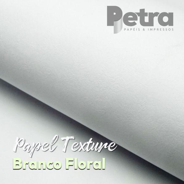 Papel Textura Floral 180g/m²  Tamanho A4 - com 100 folhas