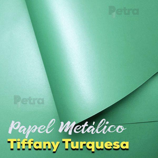 Papel Tiffany Turquesa Tam: 30,5x30,5cm 180g/m² com 20 folhas