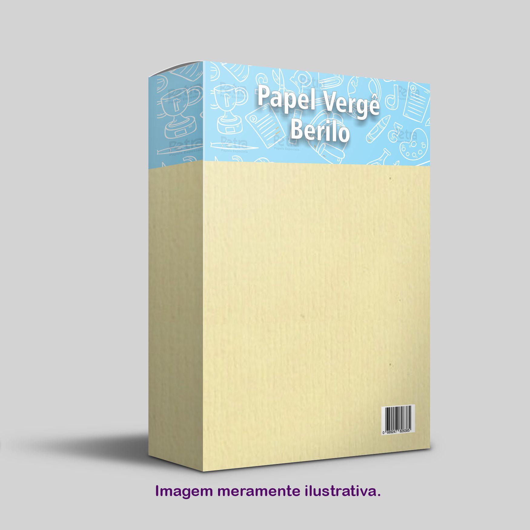 Papel Vergê Berilo  Tam: A4 180g/m² - 50 Folhas