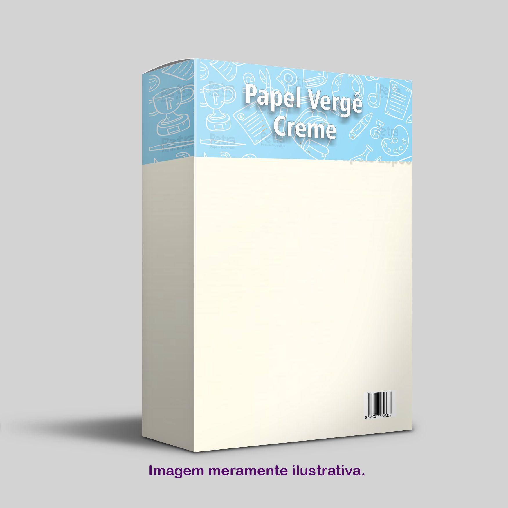 Papel Vergê  Creme  Tam: A4 180g/m² - 50 Folhas