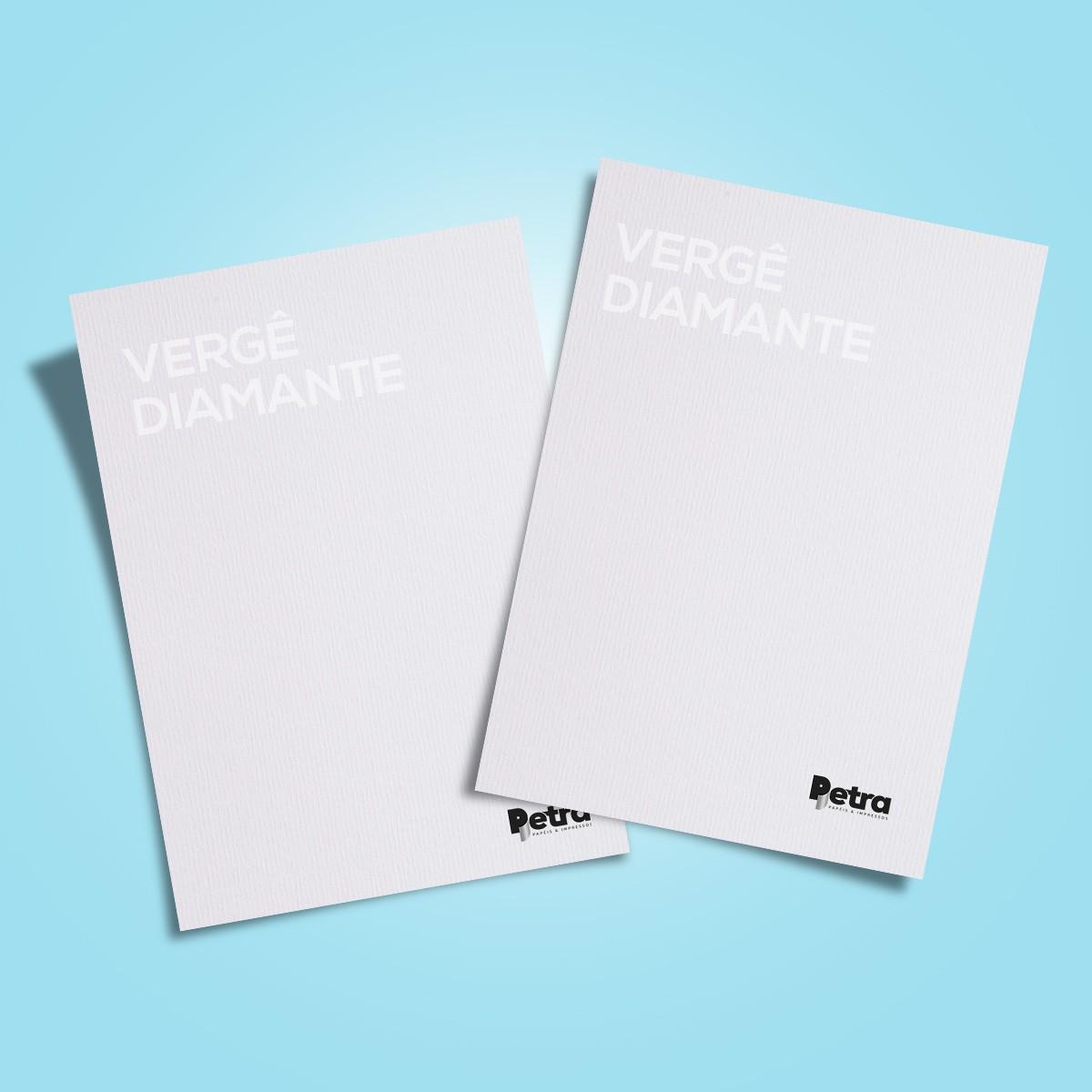Papel Vergê Diamante ( branco ) Tam: A4 180g/m² - 50 Folhas