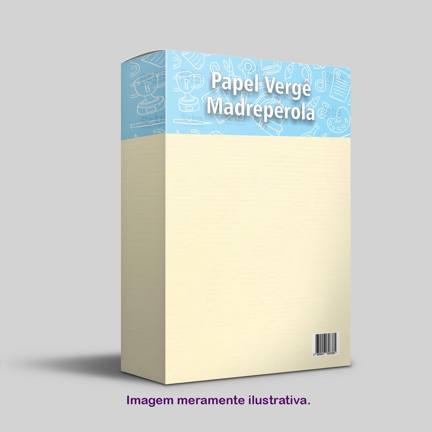 Papel Vergê Madrepérola Tam: A4 180g/m² - 50 Folhas
