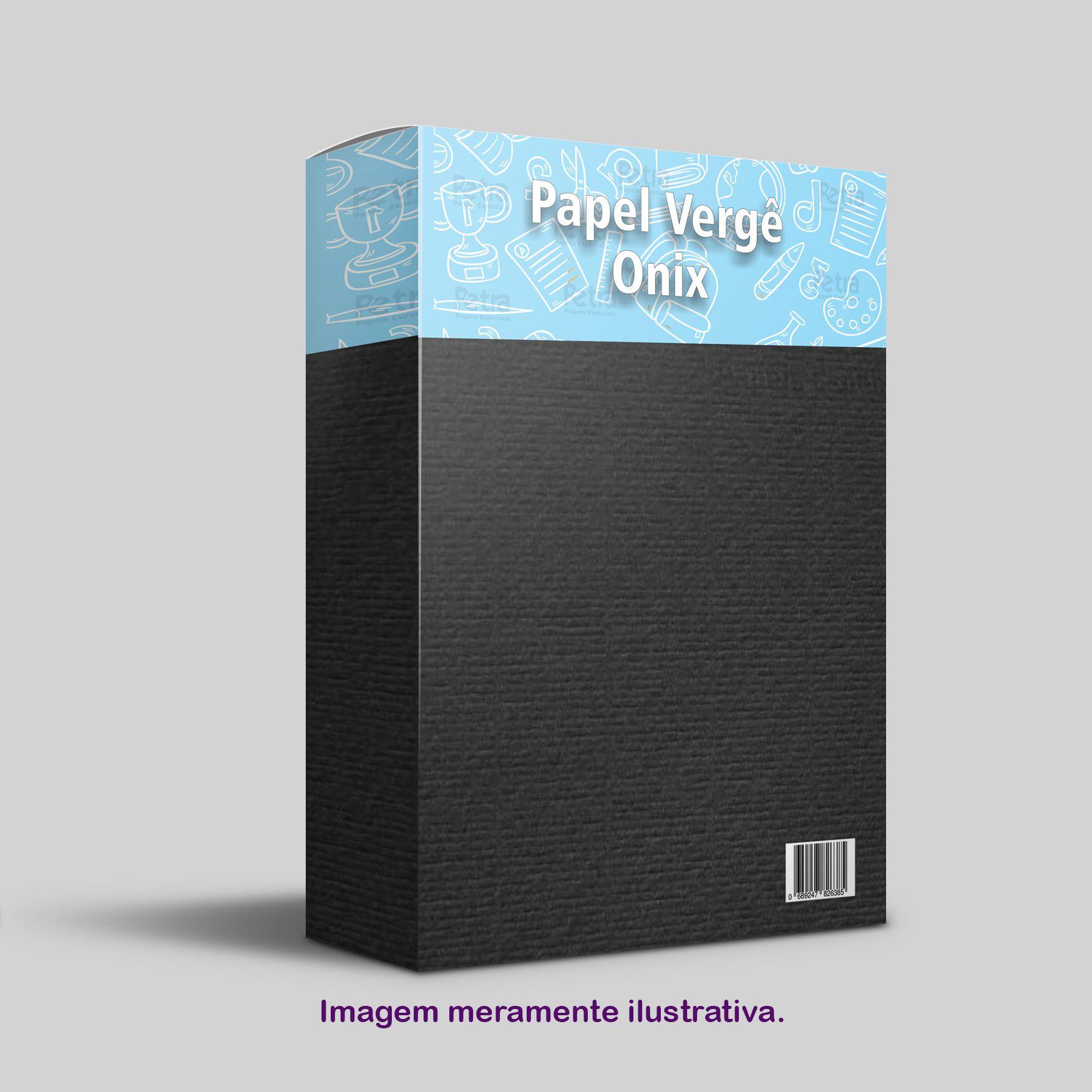 Papel Vergê Onix ( preto ) Tam: A4 180g/m² - 50 Folhas