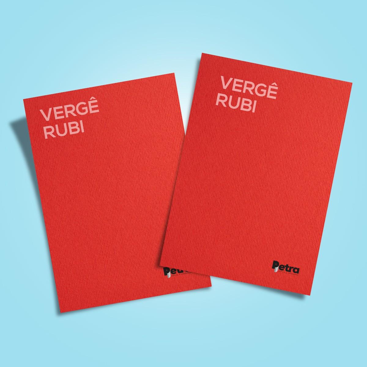 Papel Vergê Rubi ( vermelho ) Tam: A4 180g/m² - 50 Folhas