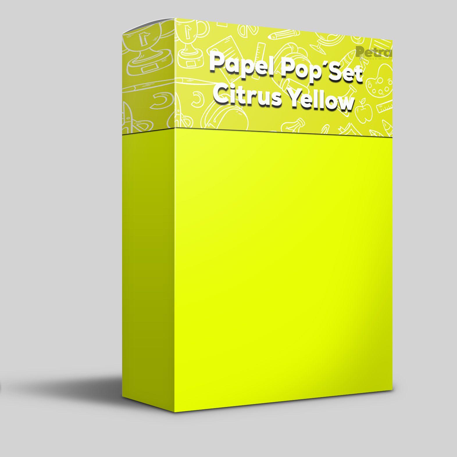 Pop Set Citrus Yellow ( amarelo )  - Tam. A4 -170g/m² - 20 folhas
