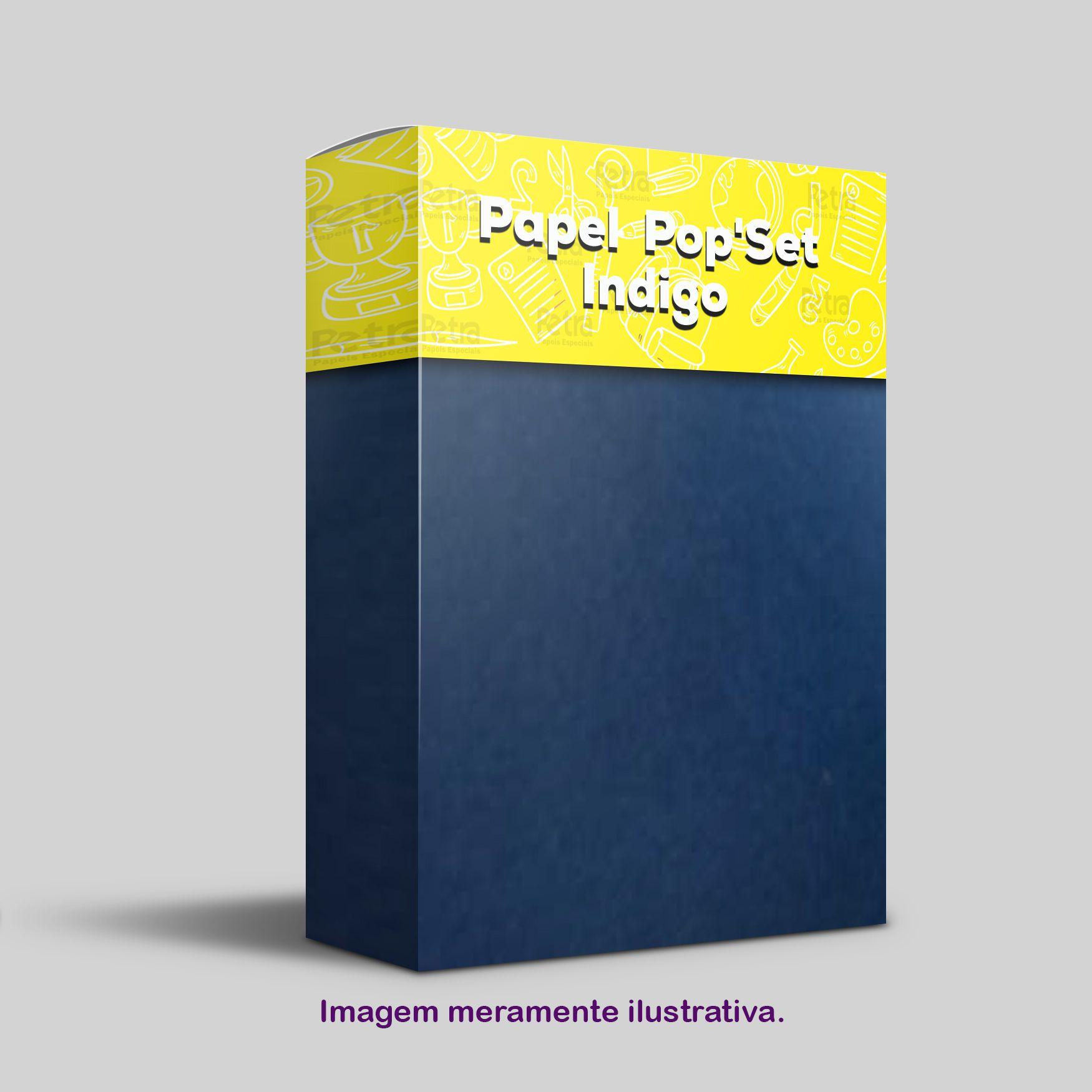 Pop Set Indigo ( Azul )  - Tam. A4 -170g/m² - 20 folhas
