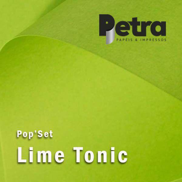 Pop Set Lime Tonic ( verde )  - Tam. A4 -170g/m² - 20 folhas