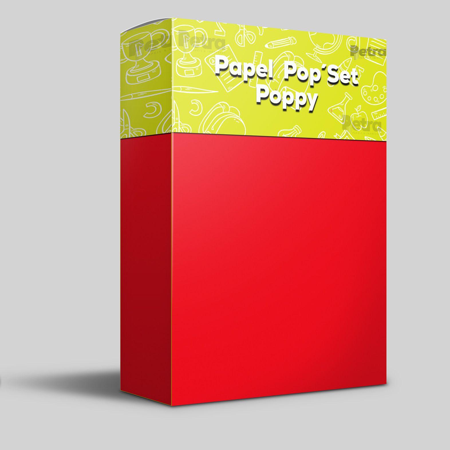 Pop Set  Poppy ( vermelho )  - Tam. A4 -170g/m² - 20 folhas