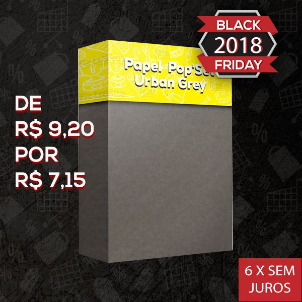 Pop Set  Urban Grey ( Cinza )  - Tam. A4 -170g/m² - 20 folhas