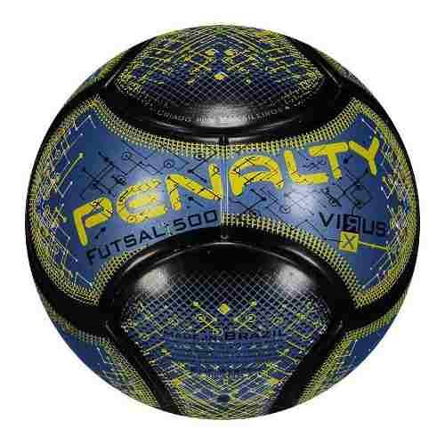 4208640e35 Bola Penalty Futsal 500 Virus RX - Azul - Titanes Esportes