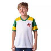 786dd0154494d1 Camisa Braziline Flamengo Zico Retrô Pala - Branco - P - Titanes ...