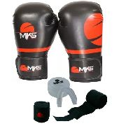 Kit Luva Champion Pro + Bandagem + Protetor Bucal Mks