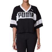 Cropped Puma Urban Sports Tee Black Feminino - Original 2018 75455581701