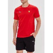 104ee664b6 Camisa Puma Ferrari Small Shield Tee Rosso Corsa Original
