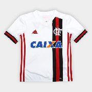 Kit Infantil do Flamengo Branco - Oficial 2018 - Adidas