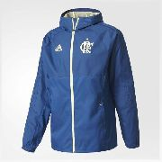 Jaqueta Flamengo Impermeável Cr Adidas \ com Capuz - Azul