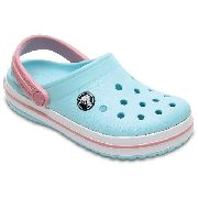 Sandália Crocs Crocband Kids Ice Blue / White Original + Nfe