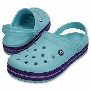 Sandália Crocs Crocband Infantil Ice Blue Kids