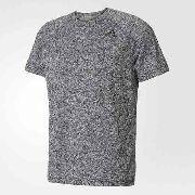 Camisa D2M Heathered Adidas - Cinza