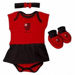 Body Infantil Feminino Torcida Baby - Flamengo