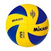 Bola Mikasa Voleiball de Couro Sintético Original Mva 350