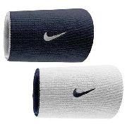 Munhequeira Dupla Nike - Branco \ Azul Marinho