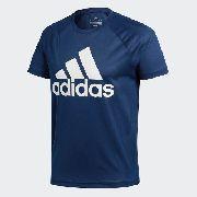 Camisa Adidas Training D2M Logo - Azul