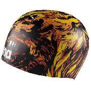 Touca de Silicone Arena Poolish Moulded Black\Lion