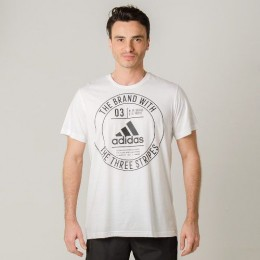 Camiseta adidas Mc Badge Branca - Original