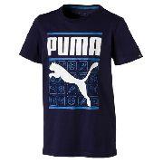 Camisa Infantil Style Graphic Tee Azul - Puma - Original