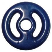 Anilha de 3Kg Emborrachada Azul Polimet