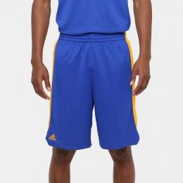 Bermuda Adidas Treino Dupla Face Masculina - Azul e amarelo