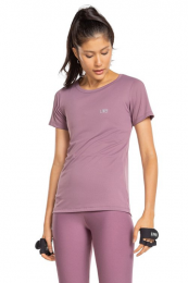 Blusa Baby Look Action Essential - Deep Grape - Live