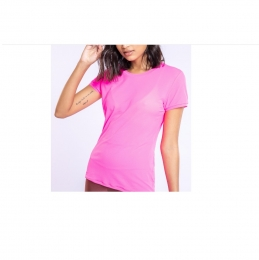 Blusa Baby Look Comfy Essential - Live - Hot Pink