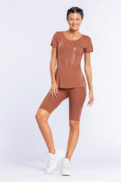 BLUSA ICON LUX - LIVE - RUST
