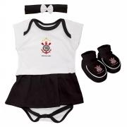 Body Infantil Feminino Torcida Baby - Corinthians
