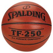 Bola Basquete Tf 250 All Surface Couro Sintético Spalding T - 7