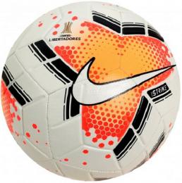 Bola de Futebol - Nike - Campo Strike Conmebol Libertadores 2020 - Branco/Laranja