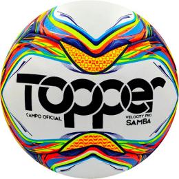 BOLA DE FUTEBOL DE CAMPO Oficial SAMBA velocity pro FERJ - Topper