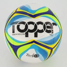 Bola de Futebol de Praia Topper Beach Soccer TD1 -  Branca /Azul
