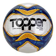 Bola Futebol Campo Topper Samba Pró Azul
