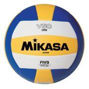 Bola Mikasa Voleiball De Couro Sintético Original Vso 2000